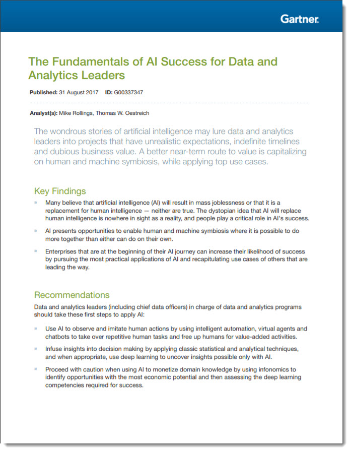 The Fundamentals of  AI Success for Data & Analytics Leaders