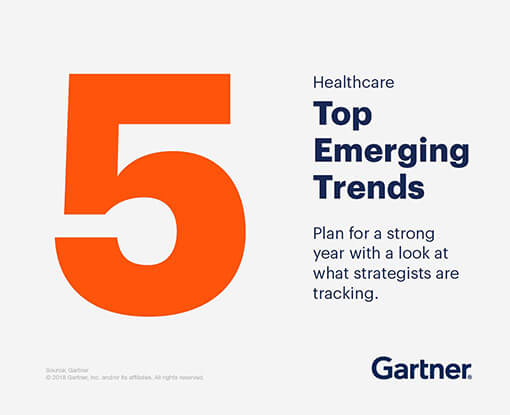 Healthcare top emerging trends. Plan for a strong year with a look at what strategists are tracking.