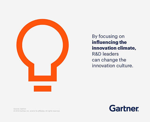 By focusing on influencing the innovation climate, R&D leaders can change the innovation culture.