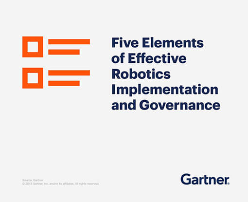 Five elements of effective robotics implementation and governance.
